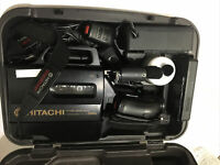 HITACHI VM-3300A VIDEO VHS Camera Camcorder Charger Accessories Case Lens Light