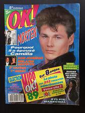 OK magazine age tendre  N°691 don johnson a-ha sylvie marechal 1989