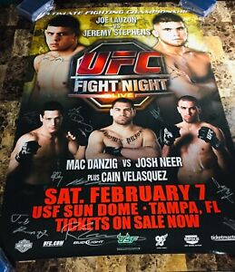 "UFC FIGHT NIGHT 17 ""SBC"" SIGNED/AUTO'D POSTER! (#84/125) JEREMY STEPHENS/ LAUZON"