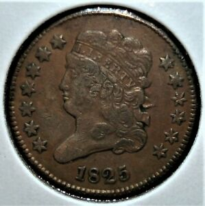 1825 Half Cent with a 30% Die Rotation Mint Error