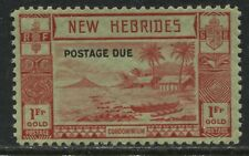 New Hebrides 1938 overprinted Postage Due 1 franc mint o.g.
