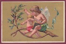 Chromo HUTINET - AU PRINTEMPS - 120613 - première lecture - ange chérubin