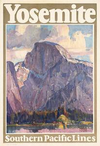 0043 Vintage Travel Poster Art - Yosemite