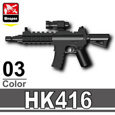 SK416 (W194) Assault Rifle compatible with toy brick minifigures Army M4