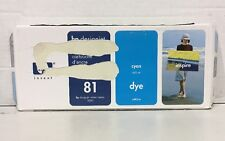 Genuine New HP 81 (C4991A) Cyan Ink Sealed Cartridge - OEM