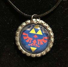 Legend Of Zelda Hyrule Shield Glass Dome Pendant Necklace