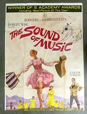 "Vintage 1966 SOUND of MUSIC Movie Poster Lithograph 55.5""x41"" - 2 of 3 sheets"