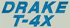 Drake T-4X Ham Radio Amateur Radio Dust Cover