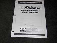 Multiquip Mikasa MT-62HS Tamping Rammer parts operation manual