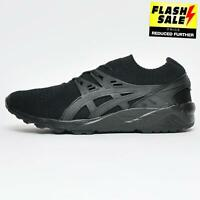 Asics Gel Kayano Knit Mens Retro Fitness Running Shoes Casual Trainers Black