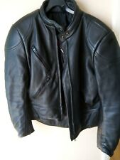 Ladies Size 14 Scott's Leathers Black Leather Biker Jacket