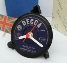 *new* SCREAMING LORD SUTCH RECORD CLOCK Actual Single Desk / Table Clock Stand