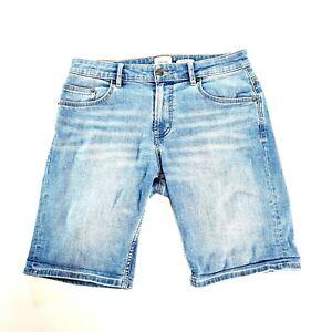 RIDERS Mens Blue Denim Casual Shorts Size 32