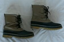 Sorel Kaufman Scout II snow boot,made in CANADA,leather,wool liners, mens 9, EUC