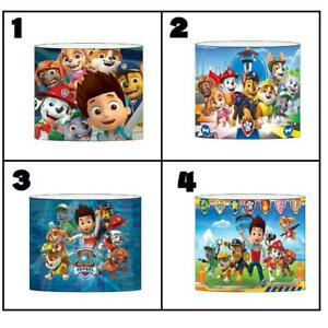 """PAW PATROL Ceiling Light Shade Lampshade 8""""/20cm in 5 DESIGNS FREE POST"""