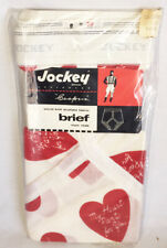 Nos 1960's- 1970's Mens Jockey Hearts Briefs Underwear