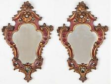 Pair of Carved Wood Mirrors Lot 432