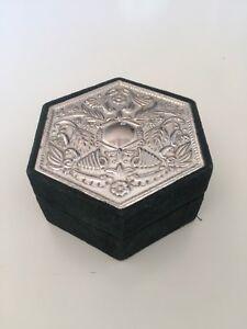 Vintage hexagonal Box & Vintage ROLEX Metal Key Holder 75th GRASSY Jewelry Annv.