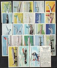 LYONS TEA 1961 - WINGS ACROSS THE WORLD - COMPLETE SET OF 24 CARDS - VERY GOOD