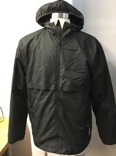 Champion Black Windbreaker L New Zip Front Hooded Water Resistant
