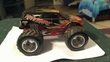 HOT WHEELS MONSTER JAM 1:24 SCALE NITEMARE SILVER HUB WHEELS MONSTER TRUCK
