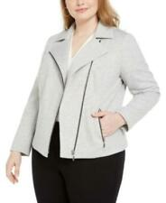 MSRP $129 Bar Iii Trendy Plus Size Ponte-Knit Moto Jacket Size 3X