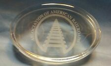 Association of American Railroads Glass Paperweight