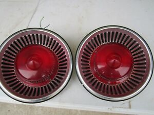 1959 ford fairlane 500 galaxie,skyliner sunliner taillights housing & lens pair