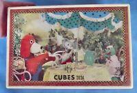 ancienne Boîte de cubes 2024 . R.T.F Garnier Chien Chat Grenouille marionnette
