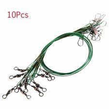 28cm Fishing Line Trace Wire Leader Leaders Copper Dark Green 10Pcs