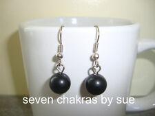 Feng Shui - 10mm Black Obsidian Earrings (Stainless Steel)