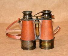 "Antique Brass 6"" Binocular Maritime Nautical Spyglass W/ leather strap Binocular"