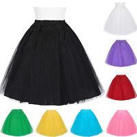 Women Swing Layered Petticoat Underskirt Tulle Tutu Mini Skirt Retro Fancy Dress