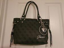 Guess Handbag Small Tote Black with Silver Detailing