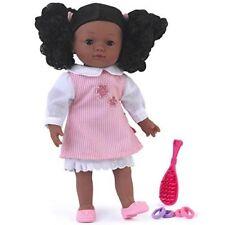 NUOVO Nero Etnico Girl bambola con capelli afro PUFF accessori-bambole World -