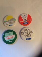 FORD DEALERSHIP GIVEAWAY CLASSIC ADVERTISING LAPEL BADGES 1970s MINT&UNUSED!.