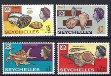 SEYCHELLES 1967 SEA SHELLS - SG 243-45 - SCOTT 237-239 MNH SET OF FOUR.