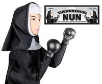 The Punching Nun Puppet Novelty Comedy Fun Retro Game Gift