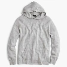 J. Crew Cotton-Wool Sweater Hoodie In Gray Size Large