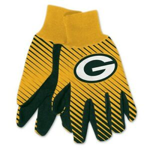 Green Bay Packers Football NFL Adult FullColor Dye Sublimated Work Grip Gloves