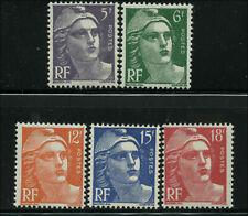 France Scott  #650 - #654 Set of 5 Mint