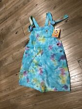 Lucy and Yak Timmy Tie Dye Dungaree Shorts Size 12 R