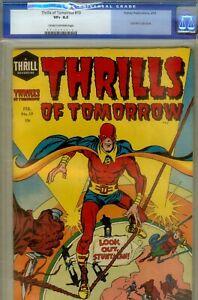 THRILLS OF TOMORROW #19- CGC 8.5- HIGRADE KIRBY ART- 1955
