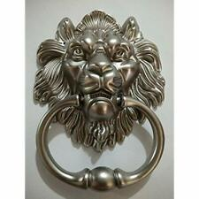 Lion Door Knocker Head Beautiful Mouth Accessories Gate Antique Silver Hardware