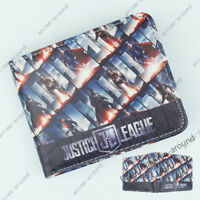 Batman Wallet DC Superhero Bi-Fold Card Holder Purse 3D LOGO Cosplay Gift Otaku
