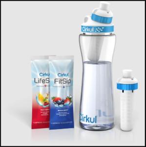 Cirkul Water Bottle 22 oz + 2 Flavor Cartridges
