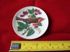 FRANKLIN PORCELAIN SONGBIRDS OF THE WORLD MINI PLATE. #12