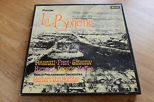 PUCINI La Boheme Pavarotti Freni BPO KARAJAN 2LP box DECCA SET 565/66