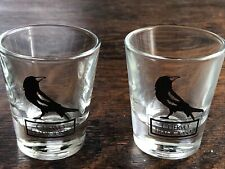 2 Crow Cuervo Tradicional Shot Glass Bar Barware