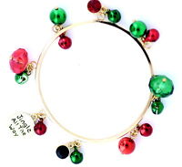 Jingle all the way, bell, bead and crystal bracelet, Christmas gift, Xmas gear